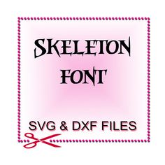 Silhouette Fonts  Font Design Files For Use With Your by SVGFILE