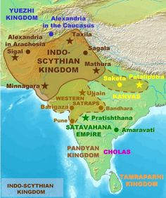 Map of the Indo-Saka Kingdoms (Illustration) - Ancient History Encyclopedia of india Map of the Indo-Saka Kingdoms Ancient Indian History, History Of India, World History, Perse Antique, History Encyclopedia, Indus Valley Civilization, India Map, Old Maps, Historical Maps