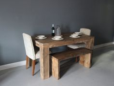 TableDining TableReclaimed WoodParsons Style BaseFree by DendroCo