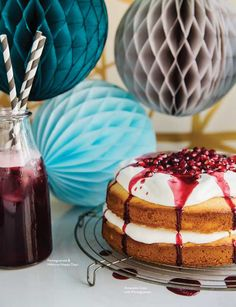 Amaretto Cake with Pomegranate Syrup