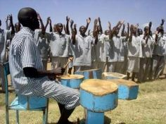 Kenyan inmates sing and dance during an inter-prison competition held at Naivasha, Kenya's biggest
