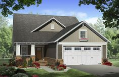 This inviting home has craftsman styling with upscale features. The front and rear covered porches add usable outdoor living space. Great room features built in cabinets and a gas fireplace. The[...] Type: House Plan, Sq.Ft.: 2300, Levels: 2, Bedrooms: 4, Bathrooms: 2, Width: 38 ft., Depth: 68 ft.