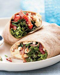 Vegetarian Breakfast Burrito (change bacon)
