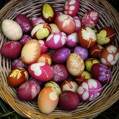 Beautiful dyed eggs