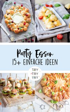 einfache und kreative Ideen für Party Essen simple and creative ideas for party food / party snack for New Year's Eve / snack idea / party dinner for birthdays / party snack for the Diy Party Food, Birthday Party Snacks, Snacks Für Party, Appetizers For Party, Diy Food, Food Ideas, Food Food, New Years Eve Snacks, New Year's Snacks