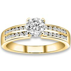 0.74 ctw 14k YG Natural H-I Color, SI Clarity, Accent Diamonds Engagement Ring http://www.pricepointshop.com/product.asp?idproduct=19342