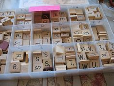 Organizing Scrabble tiles...