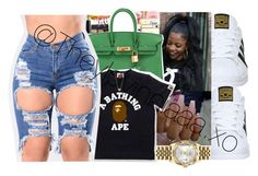 """"""""""" by theylovinniaaa ❤ liked on Polyvore featuring adidas, Hermès, Michael Kors and Rolex"""