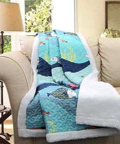 Look what I found on #zulily! Atlantis Sherpa-Lined Throw #zulilyfinds