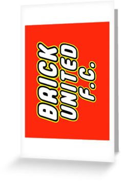 """""""BRICK UNITED FC by Customize My Minifig"""" Greeting Cards & Postcards by ChilleeW   Redbubble"""