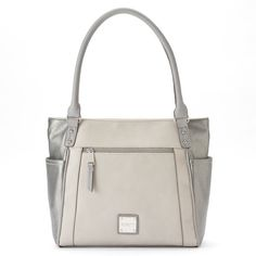 Rosetti Modern Simplicity Tote (£30) ❤ liked on Polyvore featuring bags, handbags, tote bags, med grey, zip tote bag, man bag, vegan tote bags, hand bags and grey tote