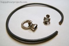 Five Minute Leather Bracelet Tutorial at www.happyhourprojects.com SUPPLIES FROM GOODY BEADS