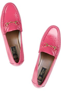 Gucci|Horsebit-detailed patent-leather loafers|celebrating 60 years of the Gucci loafer