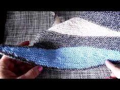 Шаль спицами частичным вязанием мастер-класс - YouTube
