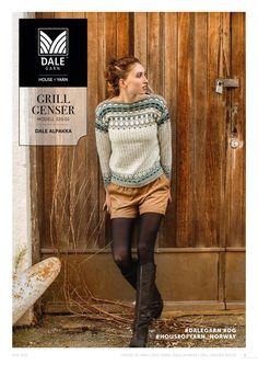Ravelry: Grill Genser pattern by Dale Design Knitting Machine Patterns, Crochet Patterns, Sous Pull, Free Knitting, Free Pattern, Knit Crochet, Graphic Sweatshirt, Pullover, Retro