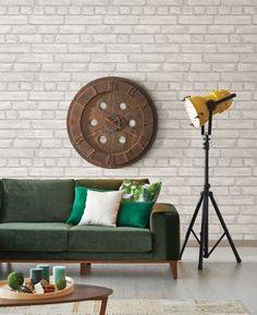 Vliestapete Rasch Textil Wand Backstein Grau Weiß 024051