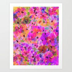 Fleur Art Print by Amy Sia | Society6