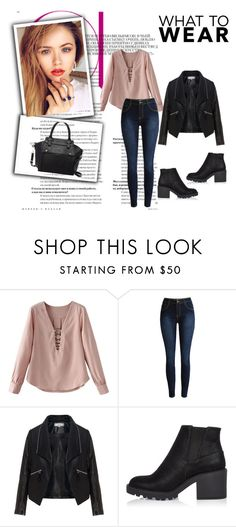 """My first set"" by hedija-okanovic ❤ liked on Polyvore featuring Zizzi, River Island and Pink Haley"
