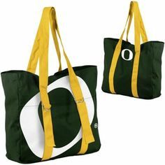 Buy Oregon Ducks Ladies Big Logo Tote - Green/Gold from the official online store of the Oregon Ducks! UO Fans Buy Oregon Ducks Ladies Big Logo Tote - Green/Gold and support Oregon Atheltics. Notre Dame Football, Alabama Football, American Football, Pittsburgh Steelers, Oklahoma Sooners, College Football, Duck Logo, Oregon Ducks Football, Sports Gifts