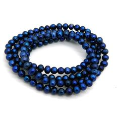 Blue Freshwater Pearl Endless Necklace