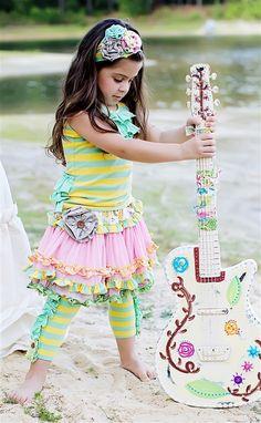 Mustard Pie Clothing - Kenzington Skirt in Rainbow **PRE-ORDER**