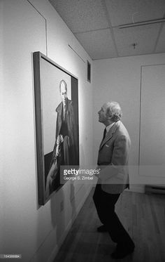 Canadian politician and Prime Minister Pierre Trudeau - examines a painting of himself on the wall of an unidentified gallery, Canada, Inspirational Leaders, Justin Trudeau, Good Ole, Prime Minister, Politicians, Ottawa, My Hero, Famous People, Watches