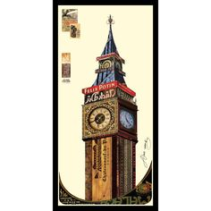 Empire Art Alex Zeng 'Big Ben' Collage Art