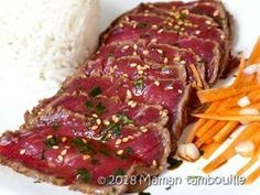 So there, really, it tears! I just tested a tataki .- So there, really, it tears! I just tested a beef tataki and its … – recipes with and without gluten - Sliced Beef Recipes, Beef Tip Recipes, Beef Stew Meat, Roast Beef Recipes, Asian Recipes, Beef Tips, Healthy Eating Tips, Healthy Recipes, Fresco