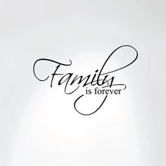 """Innovative Stencils  Family Is Forever Vinyl Wall Decal Art Saying Home Decor Sticker (20"""" Wide X 13"""" High)  #1225"""