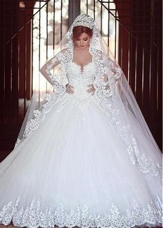 Stunning Tulle Off The Shoulder Neckline Ball Gown Wedding Dresses With Beaded Lace Liques