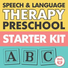 A starter kit bundle for preschool speech and language therapy. Tons of versatile activities for targeting articulation and language skills including WH questions, grammar, MLU and more! From Speechy Musings.