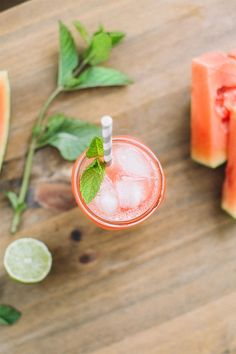 Savor Summer with a Watermelon Honey Lime Refresher   via The Honest Company Blog