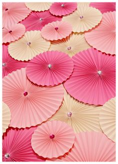 Pink Decoration, Paper Wheel Fan Flowers, Backdrop for Weddings, Birthday Decoration, Baby Showers, Accordion Flowers, Candy Buffet Decor