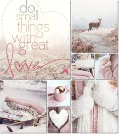 ❧ Collages de photos ❧....pink winter moodboard by AT