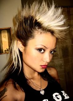 Female Faux hawk Haircut