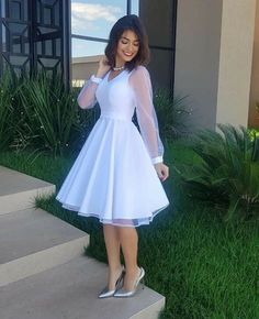 Elegant White Dress, Classy Dress, Classy Outfits, Elegant Dresses, Pretty Dresses, Casual Dresses, Short Dresses, Formal Dresses, African Formal Dress