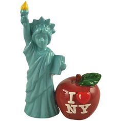 Mwah! Lady Liberty and Big Apple Salt and Pepper Shakers