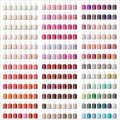 ESSIE nail polish chart. I wonder if @Alyssa Bauer has this pinned?