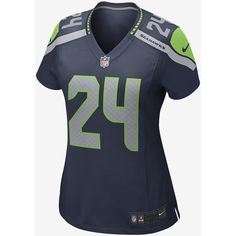 The NFL Seattle Seahawks (Marshawn Lynch) Women's Football Home Game... ($95) ❤ liked on Polyvore