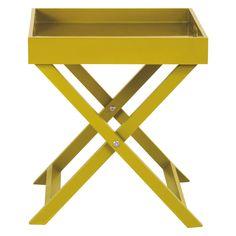 OKEN Yellow folding side table