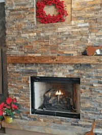 Another fireplace using Aspen Country Ledgestone from Cultured ...