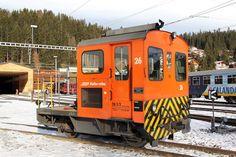 Raco/SLM Service Unit at Arosa in Switzerland Work Train, Switzerland, Trains, The Unit, Arosa, Train