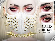 Calix Eyebrow Duo by Pralinesims at TSR • Sims 4 Updates