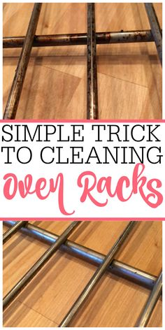 Tired of dirty oven racks? Check out this easy no-scrub trick for cleaning oven racks. You can clean oven racks without a bunch of scrubbing.  via @juliefrugally