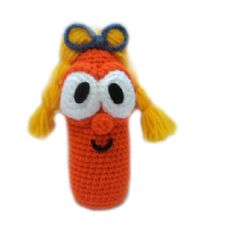 Amigurumi To Go!: How To Crochet The Carrot With Pigtales Inspired by Veggie Tales