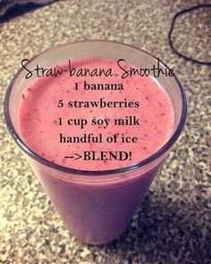 Good Free of Charge Strawberry and banana smoothie - Strawberry and banana smoothie - . Style Blood and Strawberry Banana Smoothie Recipes Several common smoothie recipes have a very important Healthy Fruit Smoothies, Fruit Smoothie Recipes, Breakfast Smoothies, Smoothie Drinks, Healthy Fruits, Healthy Drinks, Energy Smoothies, Banana Smoothie Bowl, Smoothie Detox Plan
