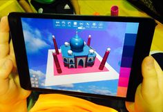 10 year olds exploring #color in Morphi today. #3dprinting #3modeling #ipad #apple #design #makered #ipadmini #elmont