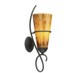 Thomas Lighting�5-1/2-in W Tango 1-Light Painted Bronze Arm Wall Sconce