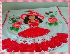 pintura de meninas ou bonecas - Pesquisa Google Crochet Doilies, Dress For You, Table Runners, Christmas Tree, Quilts, Holiday Decor, Home Decor, Thor, Mary