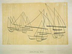 Klee: sailing boats.